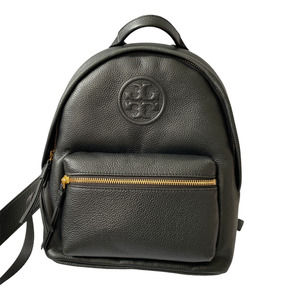 Tory Burch Small Perry Bombe Blk Leather Backpack